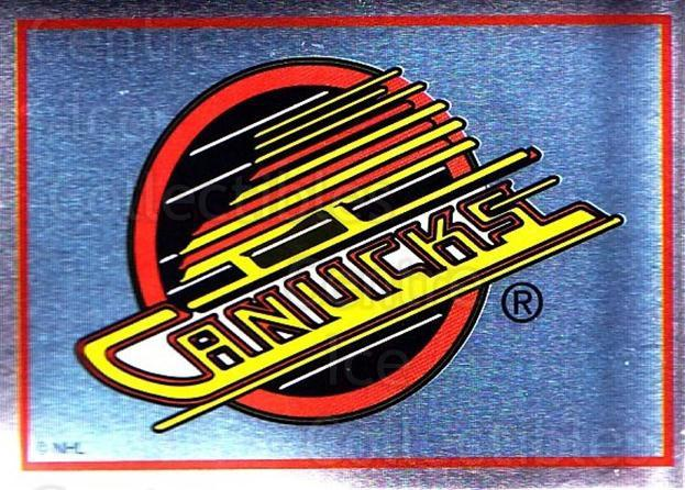 1995-96 Panini Stickers #295 Vancouver Canucks<br/>6 In Stock - $1.00 each - <a href=https://centericecollectibles.foxycart.com/cart?name=1995-96%20Panini%20Stickers%20%23295%20Vancouver%20Canuc...&quantity_max=6&price=$1.00&code=154640 class=foxycart> Buy it now! </a>