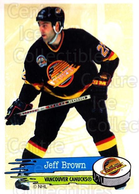 1995-96 Panini Stickers #297 Jeff Brown<br/>6 In Stock - $1.00 each - <a href=https://centericecollectibles.foxycart.com/cart?name=1995-96%20Panini%20Stickers%20%23297%20Jeff%20Brown...&quantity_max=6&price=$1.00&code=154642 class=foxycart> Buy it now! </a>