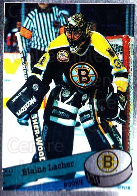 1995-96 Panini Stickers #302 Blaine Lacher<br/>3 In Stock - $1.00 each - <a href=https://centericecollectibles.foxycart.com/cart?name=1995-96%20Panini%20Stickers%20%23302%20Blaine%20Lacher...&quantity_max=3&price=$1.00&code=154648 class=foxycart> Buy it now! </a>