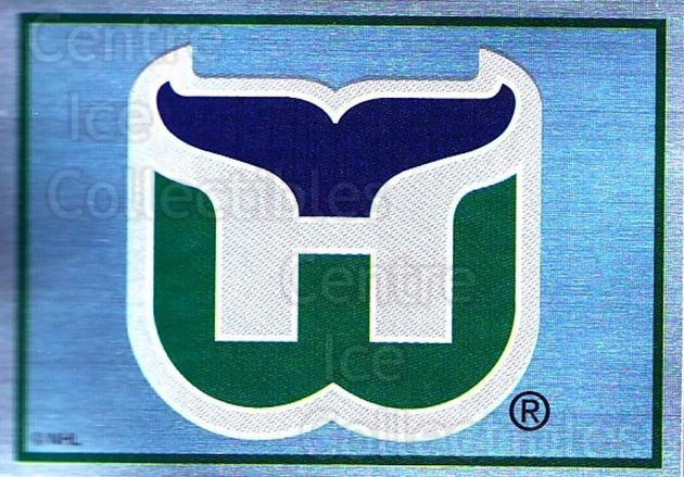 1995-96 Panini Stickers #32 Hartford Whalers<br/>5 In Stock - $1.00 each - <a href=https://centericecollectibles.foxycart.com/cart?name=1995-96%20Panini%20Stickers%20%2332%20Hartford%20Whaler...&quantity_max=5&price=$1.00&code=154654 class=foxycart> Buy it now! </a>