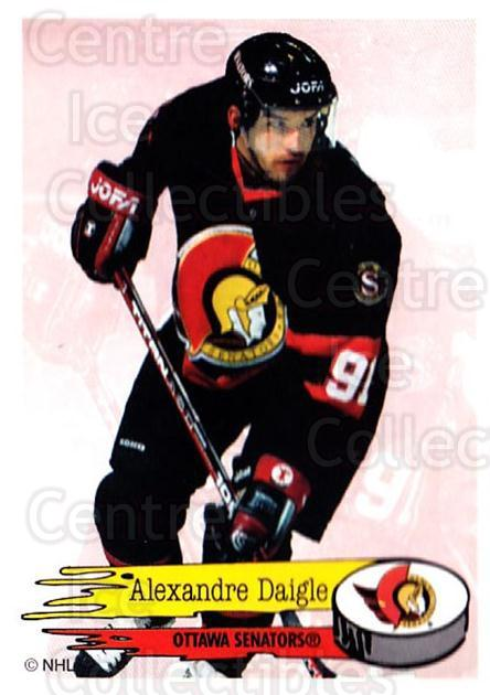 1995-96 Panini Stickers #47 Alexandre Daigle<br/>6 In Stock - $1.00 each - <a href=https://centericecollectibles.foxycart.com/cart?name=1995-96%20Panini%20Stickers%20%2347%20Alexandre%20Daigl...&quantity_max=6&price=$1.00&code=154669 class=foxycart> Buy it now! </a>