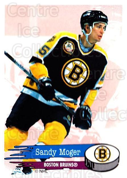 1995-96 Panini Stickers #6 Sandy Moger<br/>6 In Stock - $1.00 each - <a href=https://centericecollectibles.foxycart.com/cart?name=1995-96%20Panini%20Stickers%20%236%20Sandy%20Moger...&quantity_max=6&price=$1.00&code=154682 class=foxycart> Buy it now! </a>