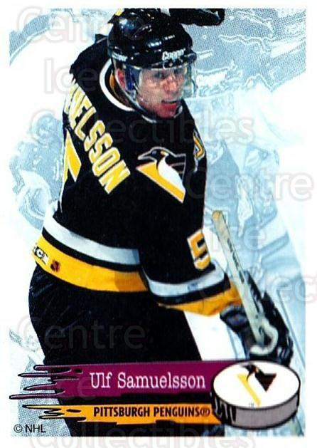 1995-96 Panini Stickers #66 Ulf Samuelsson<br/>5 In Stock - $1.00 each - <a href=https://centericecollectibles.foxycart.com/cart?name=1995-96%20Panini%20Stickers%20%2366%20Ulf%20Samuelsson...&quantity_max=5&price=$1.00&code=154688 class=foxycart> Buy it now! </a>