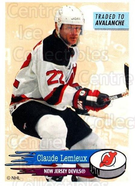 1995-96 Panini Stickers #82 Claude Lemieux<br/>6 In Stock - $1.00 each - <a href=https://centericecollectibles.foxycart.com/cart?name=1995-96%20Panini%20Stickers%20%2382%20Claude%20Lemieux...&quantity_max=6&price=$1.00&code=154706 class=foxycart> Buy it now! </a>