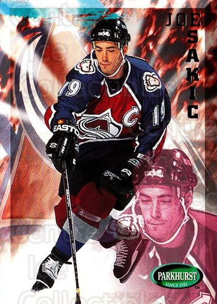 1995-96 Parkhurst #46 Joe Sakic<br/>2 In Stock - $2.00 each - <a href=https://centericecollectibles.foxycart.com/cart?name=1995-96%20Parkhurst%20%2346%20Joe%20Sakic...&quantity_max=2&price=$2.00&code=154970 class=foxycart> Buy it now! </a>