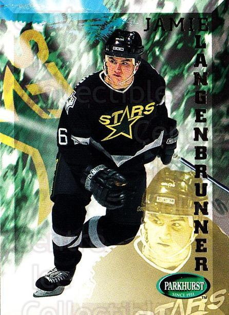 1995-96 Parkhurst #60 Jamie Langenbrunner<br/>4 In Stock - $1.00 each - <a href=https://centericecollectibles.foxycart.com/cart?name=1995-96%20Parkhurst%20%2360%20Jamie%20Langenbru...&quantity_max=4&price=$1.00&code=155063 class=foxycart> Buy it now! </a>