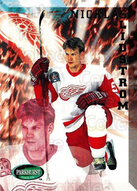 1995-96 Parkhurst #64 Nicklas Lidstrom<br/>1 In Stock - $2.00 each - <a href=https://centericecollectibles.foxycart.com/cart?name=1995-96%20Parkhurst%20%2364%20Nicklas%20Lidstro...&quantity_max=1&price=$2.00&code=155067 class=foxycart> Buy it now! </a>