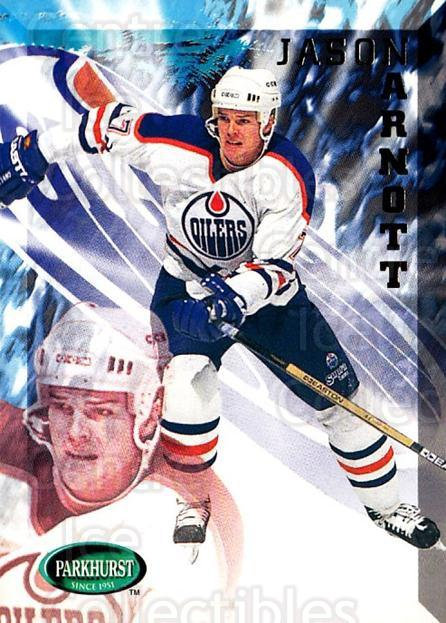 1995-96 Parkhurst #73 Jason Arnott<br/>3 In Stock - $1.00 each - <a href=https://centericecollectibles.foxycart.com/cart?name=1995-96%20Parkhurst%20%2373%20Jason%20Arnott...&quantity_max=3&price=$1.00&code=155077 class=foxycart> Buy it now! </a>