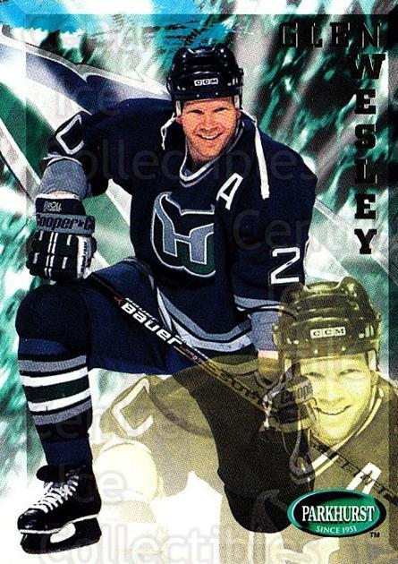 1995-96 Parkhurst #98 Glen Wesley<br/>4 In Stock - $1.00 each - <a href=https://centericecollectibles.foxycart.com/cart?name=1995-96%20Parkhurst%20%2398%20Glen%20Wesley...&quantity_max=4&price=$1.00&code=155104 class=foxycart> Buy it now! </a>