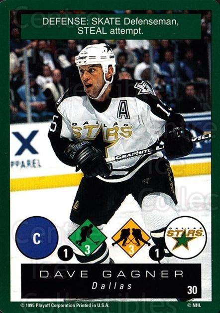 1995-96 Playoff One on One #30 Dave Gagner<br/>7 In Stock - $1.00 each - <a href=https://centericecollectibles.foxycart.com/cart?name=1995-96%20Playoff%20One%20on%20One%20%2330%20Dave%20Gagner...&quantity_max=7&price=$1.00&code=155338 class=foxycart> Buy it now! </a>