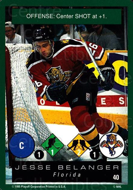 1995-96 Playoff One on One #40 Jesse Belanger<br/>6 In Stock - $1.00 each - <a href=https://centericecollectibles.foxycart.com/cart?name=1995-96%20Playoff%20One%20on%20One%20%2340%20Jesse%20Belanger...&quantity_max=6&price=$1.00&code=155368 class=foxycart> Buy it now! </a>