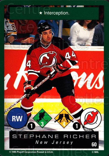 1995-96 Playoff One on One #60 Stephane Richer<br/>7 In Stock - $1.00 each - <a href=https://centericecollectibles.foxycart.com/cart?name=1995-96%20Playoff%20One%20on%20One%20%2360%20Stephane%20Richer...&quantity_max=7&price=$1.00&code=155390 class=foxycart> Buy it now! </a>
