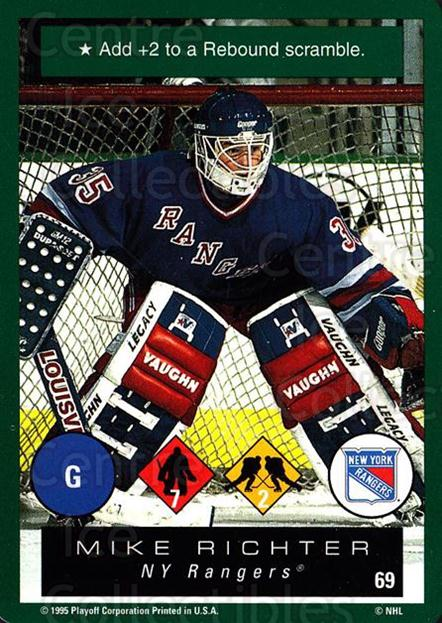 1995-96 Playoff One on One #69 Mike Richter<br/>6 In Stock - $1.00 each - <a href=https://centericecollectibles.foxycart.com/cart?name=1995-96%20Playoff%20One%20on%20One%20%2369%20Mike%20Richter...&quantity_max=6&price=$1.00&code=155399 class=foxycart> Buy it now! </a>