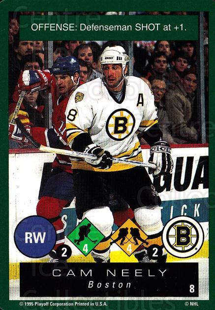 1995-96 Playoff One on One #8 Cam Neely<br/>5 In Stock - $1.00 each - <a href=https://centericecollectibles.foxycart.com/cart?name=1995-96%20Playoff%20One%20on%20One%20%238%20Cam%20Neely...&quantity_max=5&price=$1.00&code=155411 class=foxycart> Buy it now! </a>