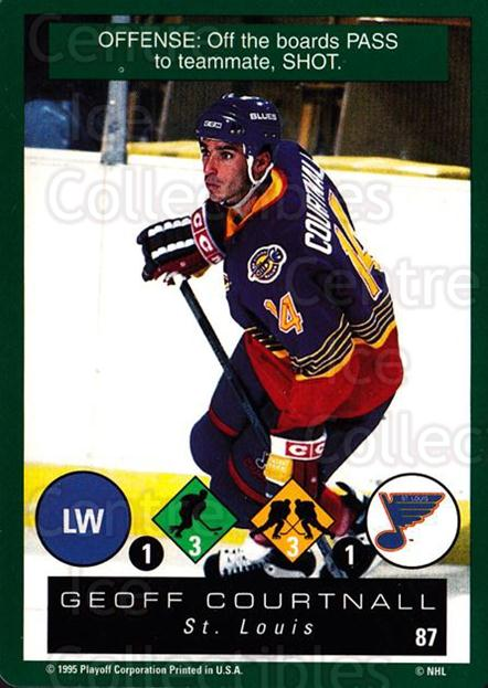 1995-96 Playoff One on One #87 Geoff Courtnall<br/>6 In Stock - $1.00 each - <a href=https://centericecollectibles.foxycart.com/cart?name=1995-96%20Playoff%20One%20on%20One%20%2387%20Geoff%20Courtnall...&quantity_max=6&price=$1.00&code=155418 class=foxycart> Buy it now! </a>