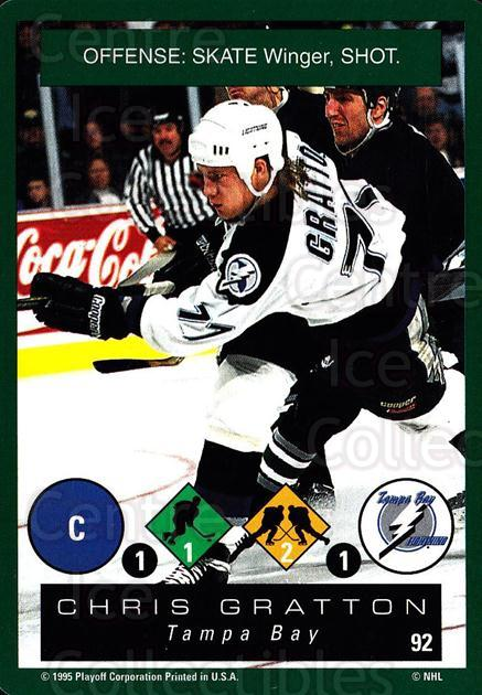 1995-96 Playoff One on One #92 Chris Gratton<br/>7 In Stock - $1.00 each - <a href=https://centericecollectibles.foxycart.com/cart?name=1995-96%20Playoff%20One%20on%20One%20%2392%20Chris%20Gratton...&quantity_max=7&price=$1.00&code=155424 class=foxycart> Buy it now! </a>
