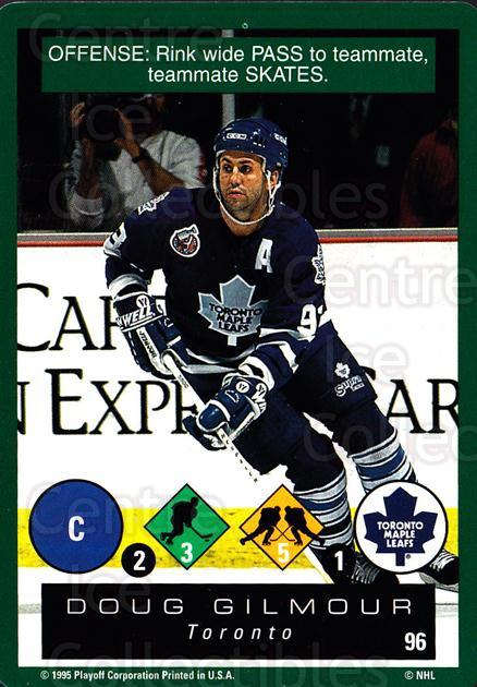 1995-96 Playoff One on One #96 Doug Gilmour<br/>6 In Stock - $1.00 each - <a href=https://centericecollectibles.foxycart.com/cart?name=1995-96%20Playoff%20One%20on%20One%20%2396%20Doug%20Gilmour...&quantity_max=6&price=$1.00&code=155428 class=foxycart> Buy it now! </a>