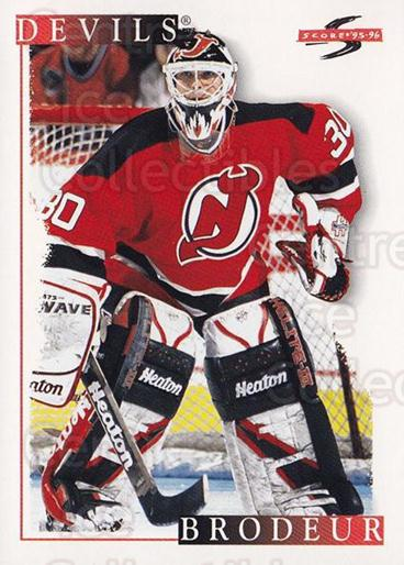 1995-96 Score #25 Martin Brodeur<br/>1 In Stock - $2.00 each - <a href=https://centericecollectibles.foxycart.com/cart?name=1995-96%20Score%20%2325%20Martin%20Brodeur...&quantity_max=1&price=$2.00&code=155448 class=foxycart> Buy it now! </a>