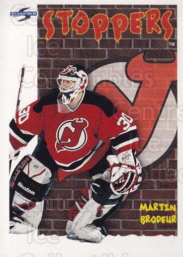 1995-96 Score #323 Martin Brodeur<br/>4 In Stock - $2.00 each - <a href=https://centericecollectibles.foxycart.com/cart?name=1995-96%20Score%20%23323%20Martin%20Brodeur...&quantity_max=4&price=$2.00&code=155528 class=foxycart> Buy it now! </a>
