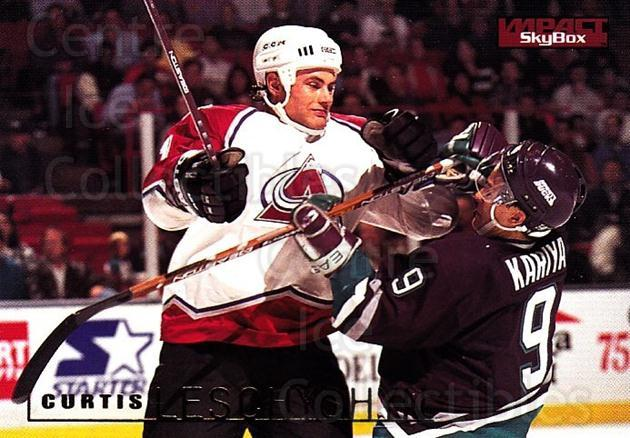 1995-96 SkyBox Impact #38 Curtis Leschyshyn<br/>5 In Stock - $1.00 each - <a href=https://centericecollectibles.foxycart.com/cart?name=1995-96%20SkyBox%20Impact%20%2338%20Curtis%20Leschysh...&quantity_max=5&price=$1.00&code=155750 class=foxycart> Buy it now! </a>