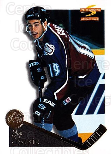 1995-96 Summit #61 Joe Sakic<br/>4 In Stock - $1.00 each - <a href=https://centericecollectibles.foxycart.com/cart?name=1995-96%20Summit%20%2361%20Joe%20Sakic...&price=$1.00&code=155822 class=foxycart> Buy it now! </a>