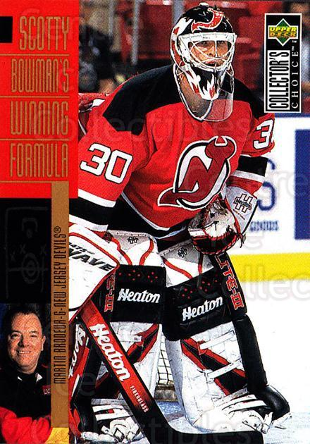1996-97 Collectors Choice #306 Martin Brodeur, Scotty Bowman<br/>3 In Stock - $2.00 each - <a href=https://centericecollectibles.foxycart.com/cart?name=1996-97%20Collectors%20Choice%20%23306%20Martin%20Brodeur,...&price=$2.00&code=156585 class=foxycart> Buy it now! </a>