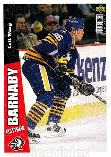 1996-97 Collectors Choice #33 Matthew Barnaby<br/>2 In Stock - $1.00 each - <a href=https://centericecollectibles.foxycart.com/cart?name=1996-97%20Collectors%20Choice%20%2333%20Matthew%20Barnaby...&quantity_max=2&price=$1.00&code=156611 class=foxycart> Buy it now! </a>