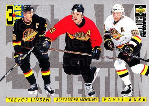 1996-97 Collectors Choice #333 Alexander Mogilny, Pavel Bure, Trevor Linden<br/>3 In Stock - $1.00 each - <a href=https://centericecollectibles.foxycart.com/cart?name=1996-97%20Collectors%20Choice%20%23333%20Alexander%20Mogil...&quantity_max=3&price=$1.00&code=156615 class=foxycart> Buy it now! </a>