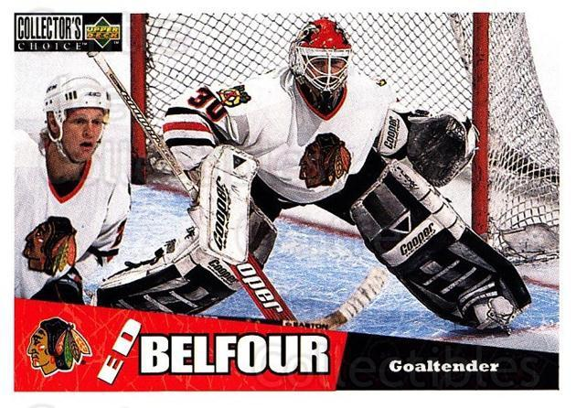 1996-97 Collectors Choice #55 Ed Belfour<br/>4 In Stock - $1.00 each - <a href=https://centericecollectibles.foxycart.com/cart?name=1996-97%20Collectors%20Choice%20%2355%20Ed%20Belfour...&price=$1.00&code=156669 class=foxycart> Buy it now! </a>