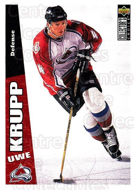 1996-97 Collectors Choice #56 Uwe Krupp<br/>2 In Stock - $1.00 each - <a href=https://centericecollectibles.foxycart.com/cart?name=1996-97%20Collectors%20Choice%20%2356%20Uwe%20Krupp...&quantity_max=2&price=$1.00&code=156670 class=foxycart> Buy it now! </a>