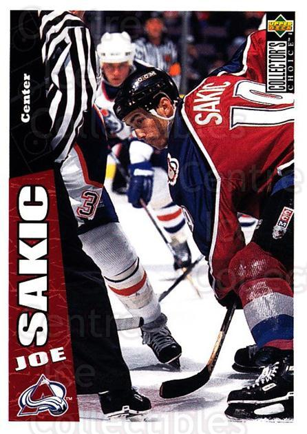 1996-97 Collectors Choice #64 Joe Sakic<br/>4 In Stock - $1.00 each - <a href=https://centericecollectibles.foxycart.com/cart?name=1996-97%20Collectors%20Choice%20%2364%20Joe%20Sakic...&price=$1.00&code=156679 class=foxycart> Buy it now! </a>