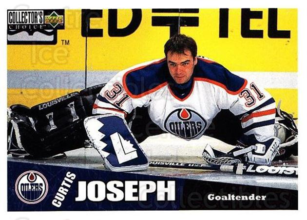 1996-97 Collectors Choice #90 Curtis Joseph<br/>2 In Stock - $1.00 each - <a href=https://centericecollectibles.foxycart.com/cart?name=1996-97%20Collectors%20Choice%20%2390%20Curtis%20Joseph...&quantity_max=2&price=$1.00&code=156708 class=foxycart> Buy it now! </a>