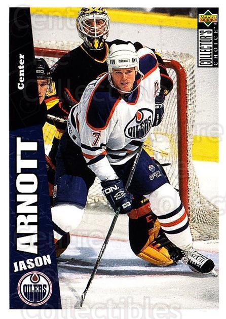 1996-97 Collectors Choice #92 Jason Arnott<br/>3 In Stock - $1.00 each - <a href=https://centericecollectibles.foxycart.com/cart?name=1996-97%20Collectors%20Choice%20%2392%20Jason%20Arnott...&quantity_max=3&price=$1.00&code=156710 class=foxycart> Buy it now! </a>