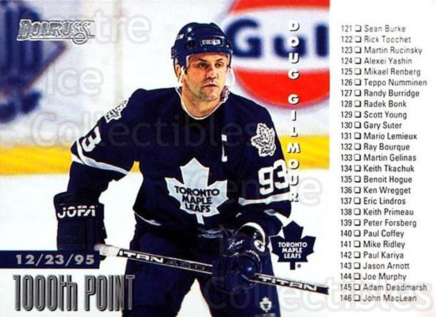 1996-97 Donruss #239 Doug Gilmour, Checklist<br/>5 In Stock - $1.00 each - <a href=https://centericecollectibles.foxycart.com/cart?name=1996-97%20Donruss%20%23239%20Doug%20Gilmour,%20C...&quantity_max=5&price=$1.00&code=156722 class=foxycart> Buy it now! </a>