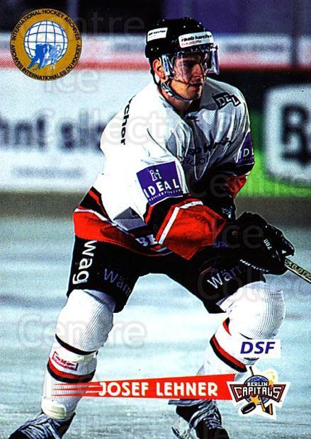 1996-97 German DEL #252 Josef Lehner<br/>6 In Stock - $2.00 each - <a href=https://centericecollectibles.foxycart.com/cart?name=1996-97%20German%20DEL%20%23252%20Josef%20Lehner...&quantity_max=6&price=$2.00&code=156886 class=foxycart> Buy it now! </a>