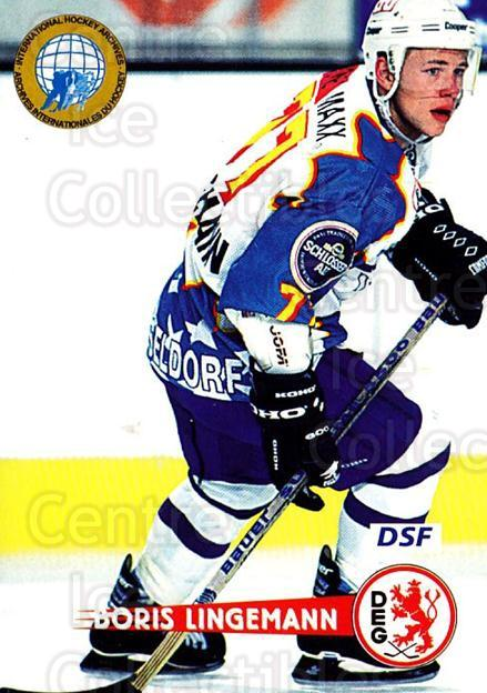 1996-97 German DEL #288 Boris Lingemann<br/>7 In Stock - $2.00 each - <a href=https://centericecollectibles.foxycart.com/cart?name=1996-97%20German%20DEL%20%23288%20Boris%20Lingemann...&quantity_max=7&price=$2.00&code=156921 class=foxycart> Buy it now! </a>