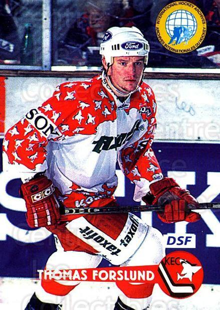 1996-97 German DEL #357 Tomas Forslund<br/>3 In Stock - $2.00 each - <a href=https://centericecollectibles.foxycart.com/cart?name=1996-97%20German%20DEL%20%23357%20Tomas%20Forslund...&price=$2.00&code=156993 class=foxycart> Buy it now! </a>