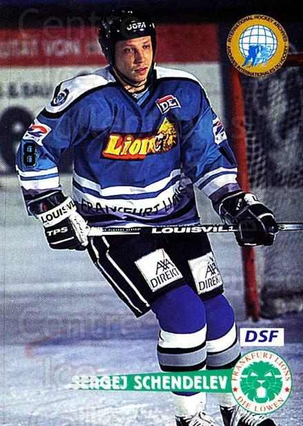 1996-97 German DEL #52 Sergei Schendelev<br/>7 In Stock - $2.00 each - <a href=https://centericecollectibles.foxycart.com/cart?name=1996-97%20German%20DEL%20%2352%20Sergei%20Schendel...&quantity_max=7&price=$2.00&code=157011 class=foxycart> Buy it now! </a>