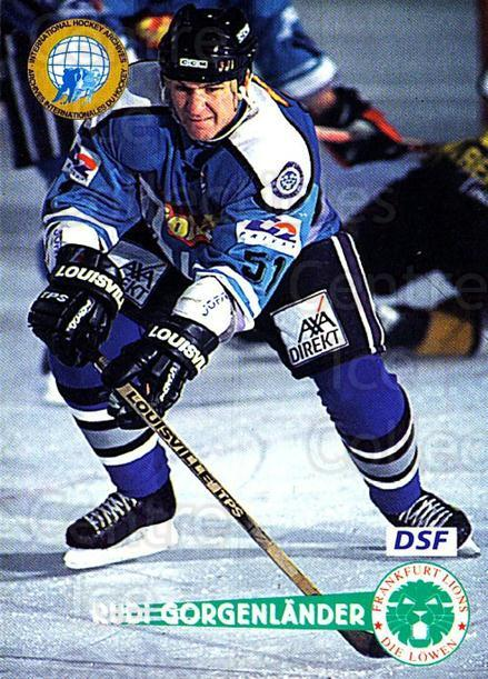1996-97 German DEL #54 Rudolf Gorgenlander<br/>5 In Stock - $2.00 each - <a href=https://centericecollectibles.foxycart.com/cart?name=1996-97%20German%20DEL%20%2354%20Rudolf%20Gorgenla...&quantity_max=5&price=$2.00&code=157013 class=foxycart> Buy it now! </a>