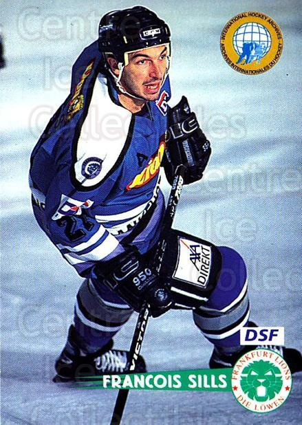 1996-97 German DEL #59 Francois Sills<br/>4 In Stock - $2.00 each - <a href=https://centericecollectibles.foxycart.com/cart?name=1996-97%20German%20DEL%20%2359%20Francois%20Sills...&quantity_max=4&price=$2.00&code=157017 class=foxycart> Buy it now! </a>