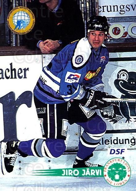 1996-97 German DEL #60 Iiro Jarvi<br/>3 In Stock - $2.00 each - <a href=https://centericecollectibles.foxycart.com/cart?name=1996-97%20German%20DEL%20%2360%20Iiro%20Jarvi...&quantity_max=3&price=$2.00&code=157019 class=foxycart> Buy it now! </a>