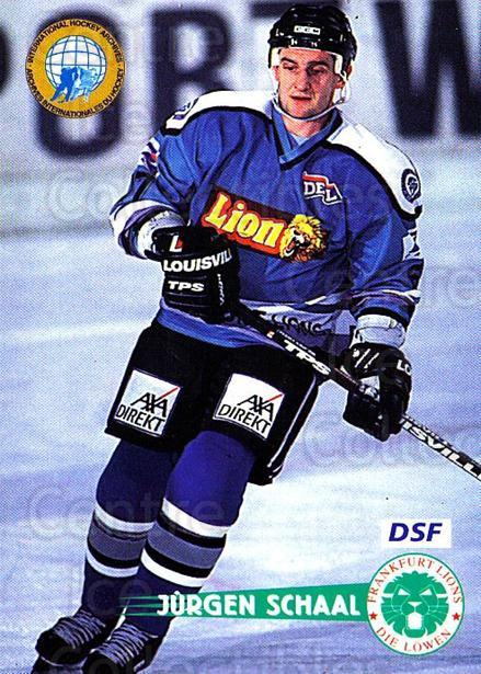 1996-97 German DEL #61 Jurgen Schaal<br/>7 In Stock - $2.00 each - <a href=https://centericecollectibles.foxycart.com/cart?name=1996-97%20German%20DEL%20%2361%20Jurgen%20Schaal...&quantity_max=7&price=$2.00&code=157020 class=foxycart> Buy it now! </a>