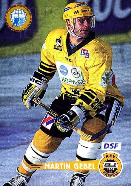 1996-97 German DEL #73 Martin Gebel<br/>5 In Stock - $2.00 each - <a href=https://centericecollectibles.foxycart.com/cart?name=1996-97%20German%20DEL%20%2373%20Martin%20Gebel...&quantity_max=5&price=$2.00&code=157031 class=foxycart> Buy it now! </a>