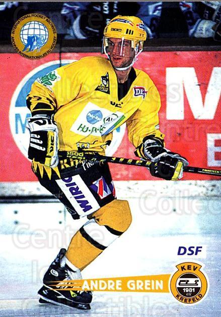 1996-97 German DEL #78 Andre Grein<br/>3 In Stock - $2.00 each - <a href=https://centericecollectibles.foxycart.com/cart?name=1996-97%20German%20DEL%20%2378%20Andre%20Grein...&quantity_max=3&price=$2.00&code=157035 class=foxycart> Buy it now! </a>