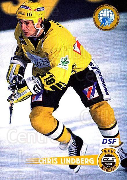 1996-97 German DEL #83 Chris Lindberg<br/>3 In Stock - $2.00 each - <a href=https://centericecollectibles.foxycart.com/cart?name=1996-97%20German%20DEL%20%2383%20Chris%20Lindberg...&quantity_max=3&price=$2.00&code=157041 class=foxycart> Buy it now! </a>