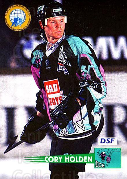 1996-97 German DEL #97 Cory Holden<br/>8 In Stock - $2.00 each - <a href=https://centericecollectibles.foxycart.com/cart?name=1996-97%20German%20DEL%20%2397%20Cory%20Holden...&price=$2.00&code=157055 class=foxycart> Buy it now! </a>