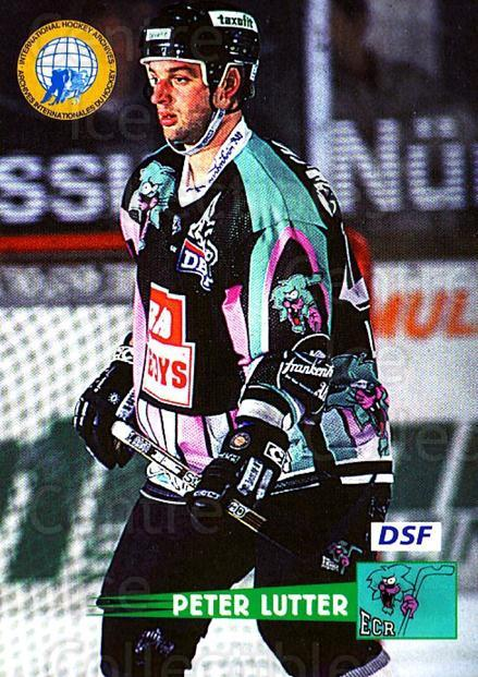 1996-97 German DEL #98 Peter Lutter<br/>9 In Stock - $2.00 each - <a href=https://centericecollectibles.foxycart.com/cart?name=1996-97%20German%20DEL%20%2398%20Peter%20Lutter...&price=$2.00&code=157056 class=foxycart> Buy it now! </a>