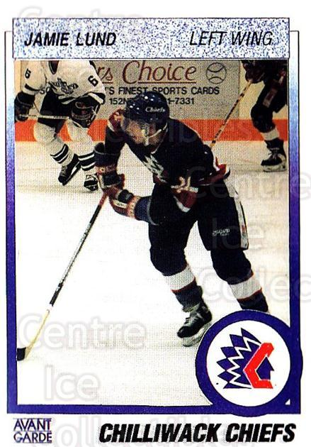1991-92 British Columbia Junior Hockey League #142 Jamie Lund<br/>6 In Stock - $2.00 each - <a href=https://centericecollectibles.foxycart.com/cart?name=1991-92%20British%20Columbia%20Junior%20Hockey%20League%20%23142%20Jamie%20Lund...&quantity_max=6&price=$2.00&code=15715 class=foxycart> Buy it now! </a>