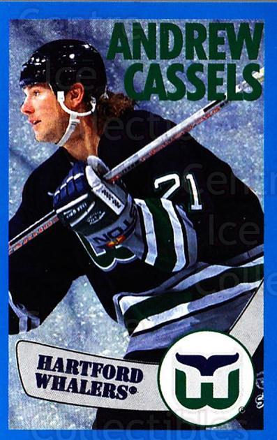 1996-97 Panini Stickers #28 Andrew Cassels<br/>4 In Stock - $1.00 each - <a href=https://centericecollectibles.foxycart.com/cart?name=1996-97%20Panini%20Stickers%20%2328%20Andrew%20Cassels...&quantity_max=4&price=$1.00&code=157215 class=foxycart> Buy it now! </a>