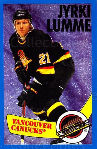 1996-97 Panini Stickers #293 Jyrki Lumme<br/>2 In Stock - $1.00 each - <a href=https://centericecollectibles.foxycart.com/cart?name=1996-97%20Panini%20Stickers%20%23293%20Jyrki%20Lumme...&quantity_max=2&price=$1.00&code=157229 class=foxycart> Buy it now! </a>